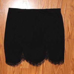 Super cute black lacey skirt